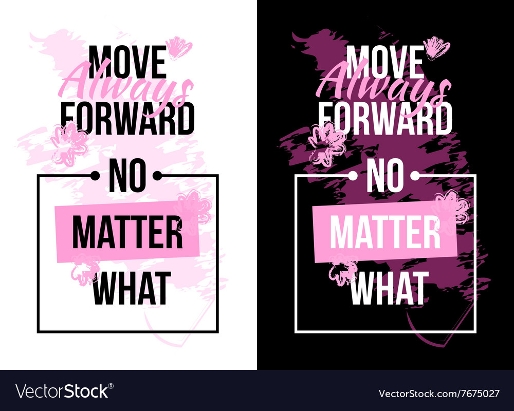 slogan motivation with flowers text print for vector image