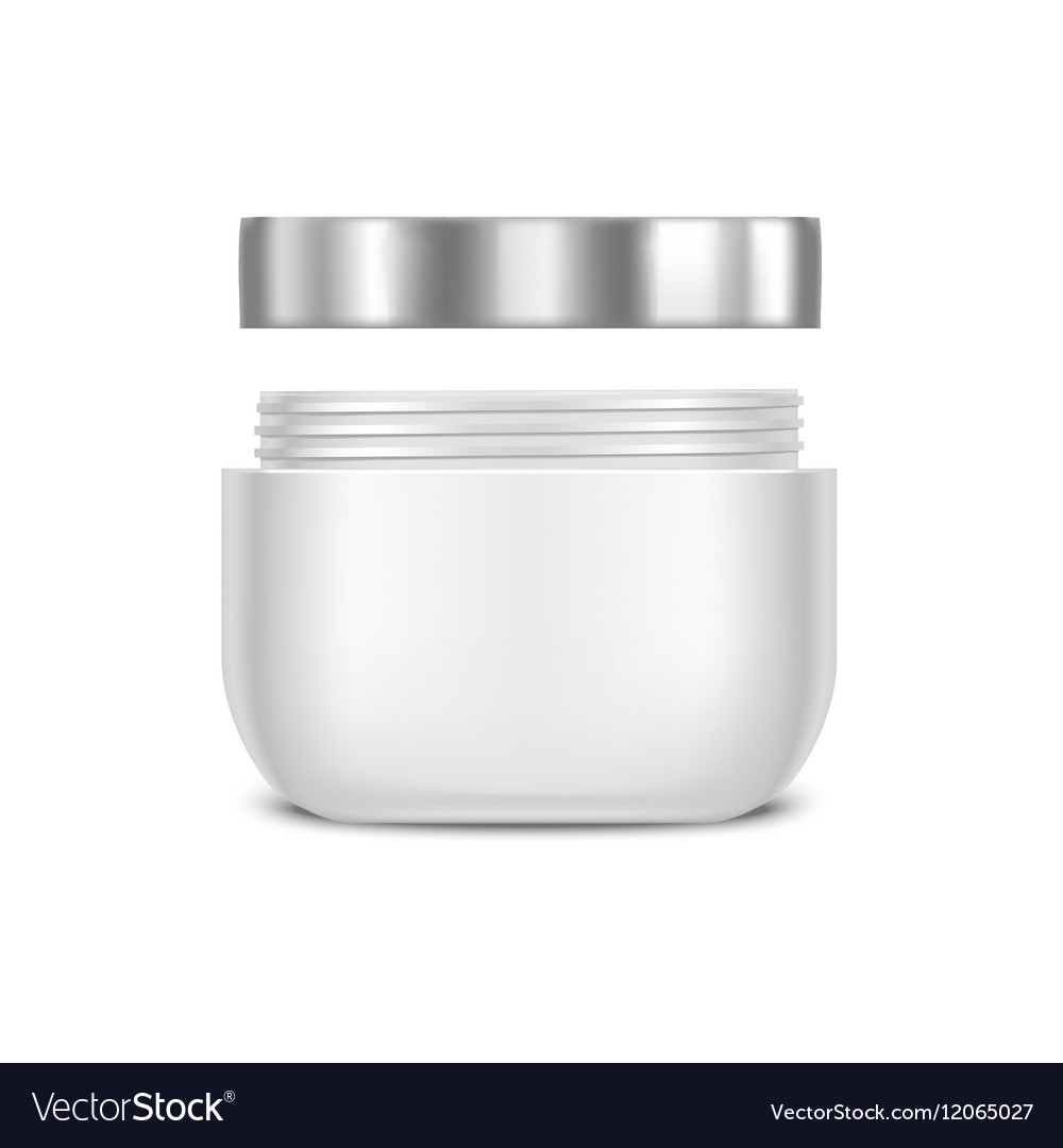 Template Blank White Cream Jar Royalty Free Vector Image