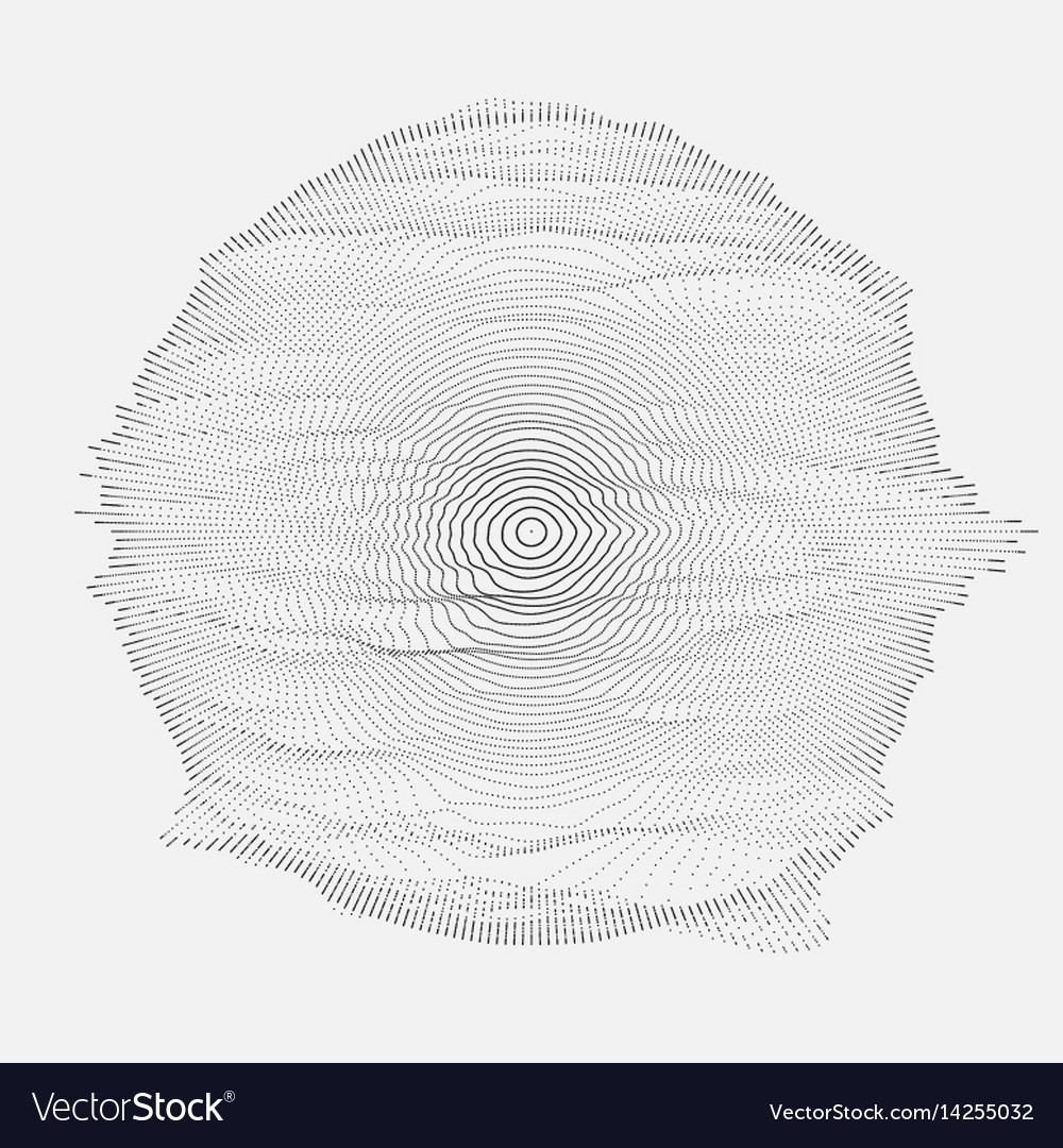 Abstract grayscale mesh on white vector image