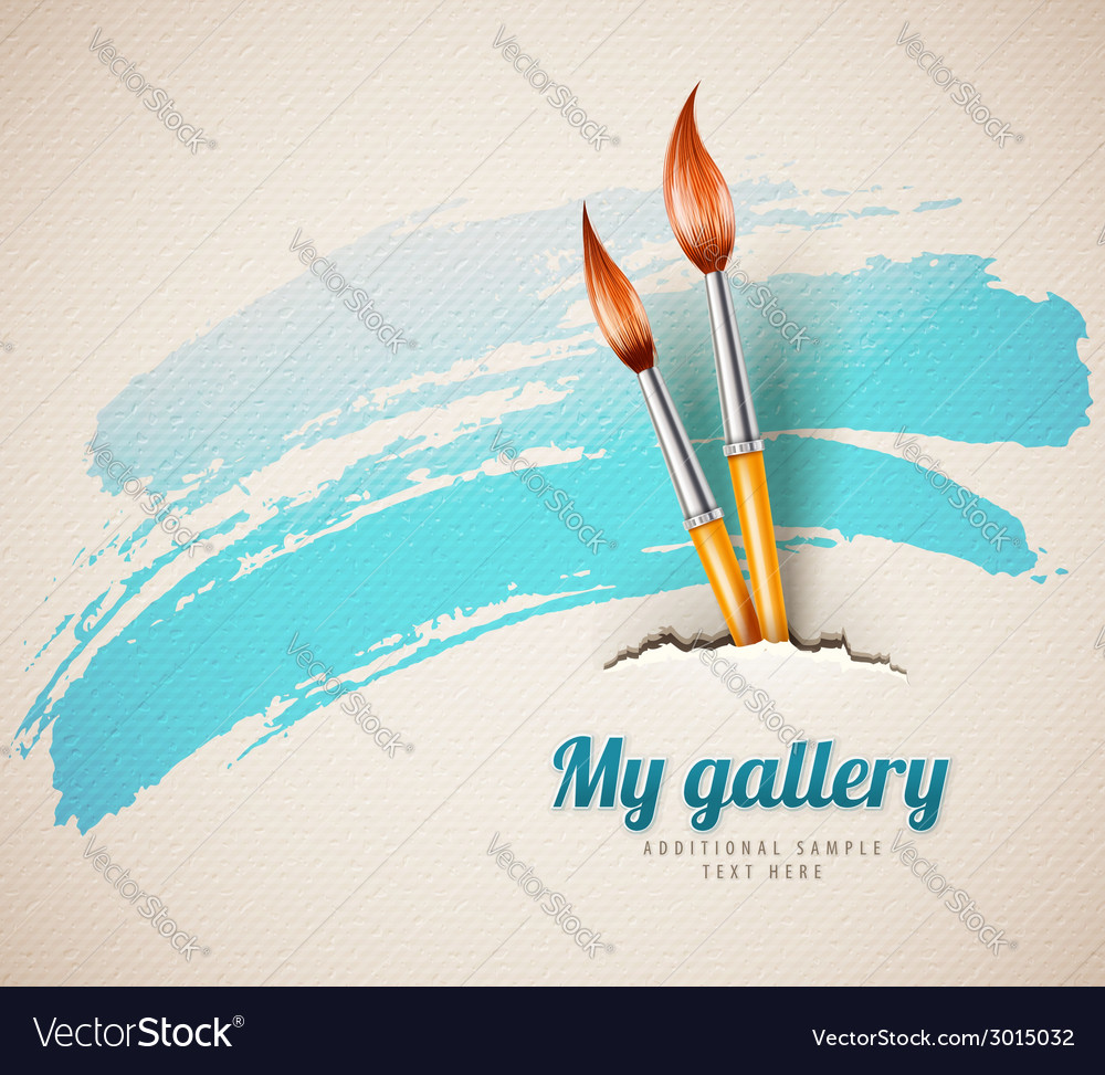 Artist brushes for drawing vector image