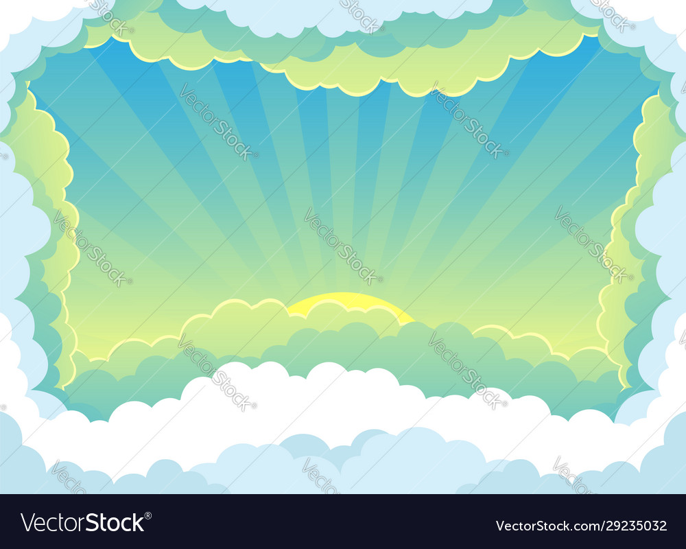 Beautiful sunrise and clouds