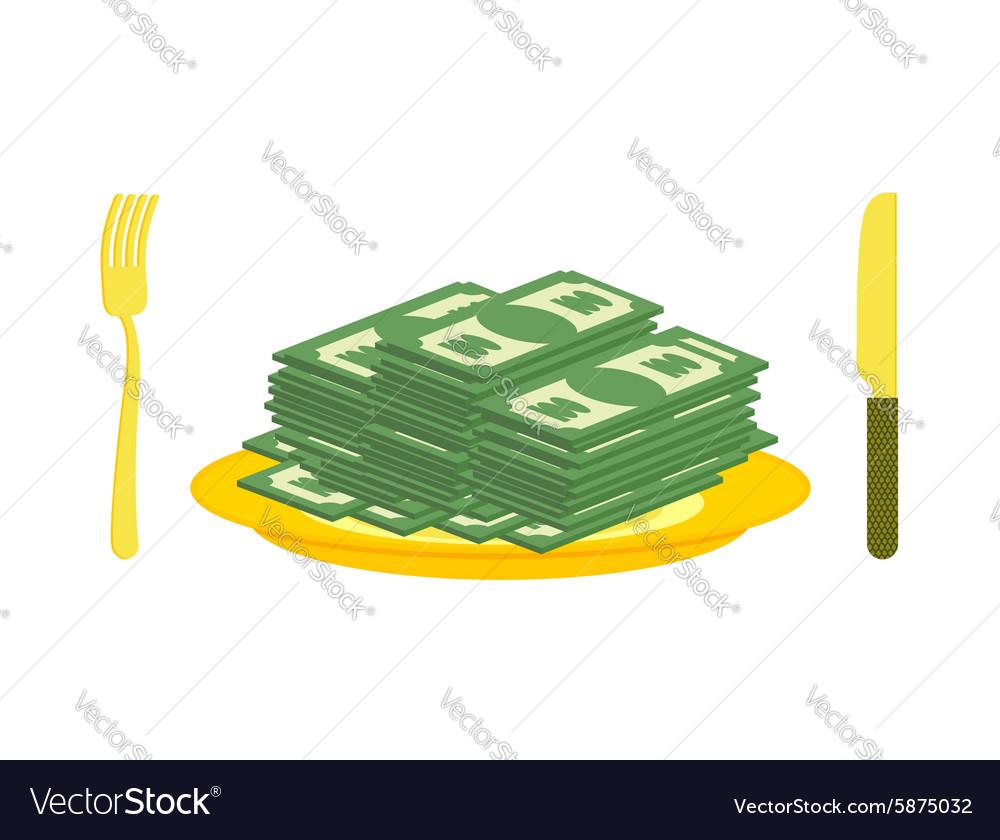 Food oligarch Bundles of money cash eats for