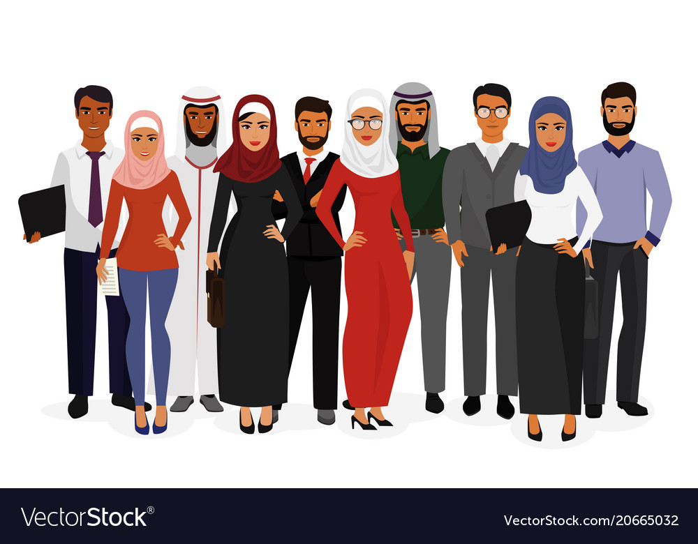 Groupe arab man and woman