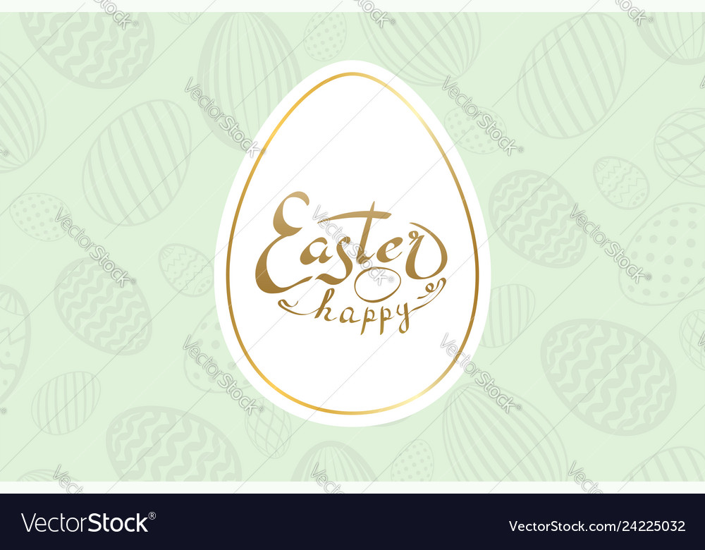 Happy easter background lettering eggs texture