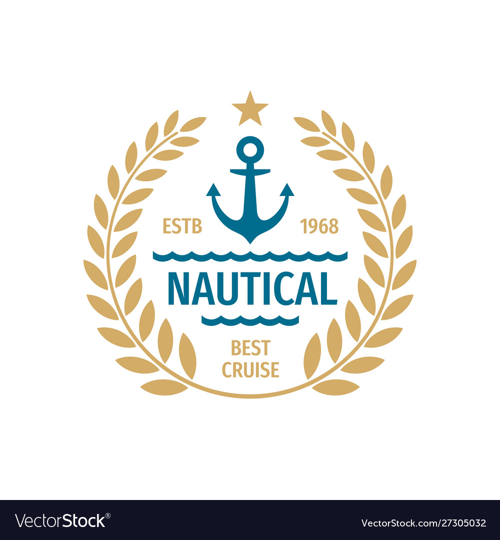 Nautical badge logo design best cruise sign