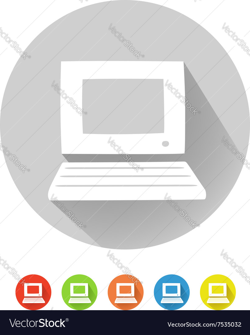PC symbol vector image