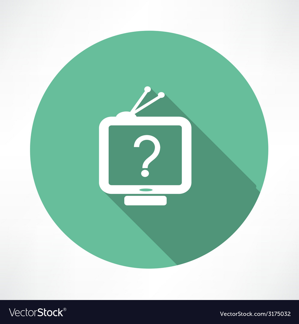 Question mark in tv icon
