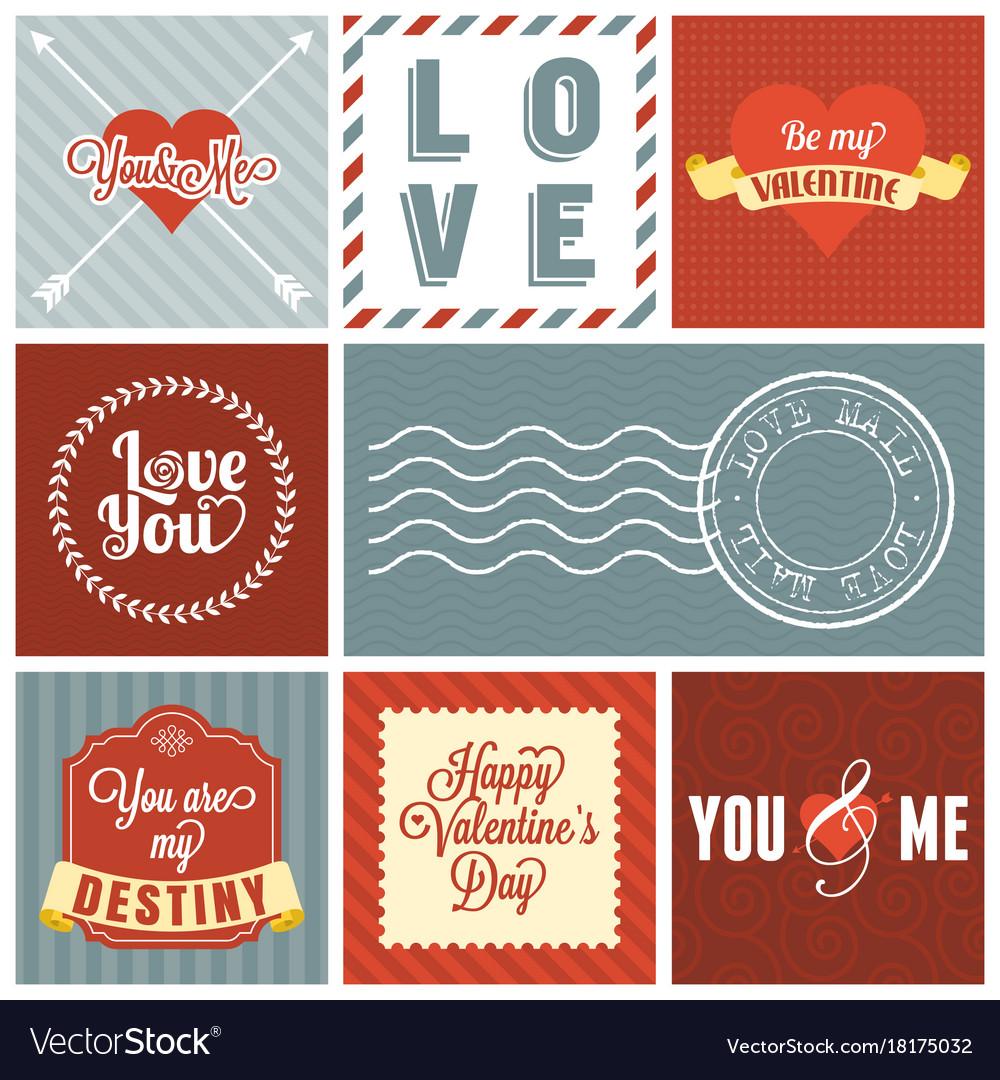 Valentine day set