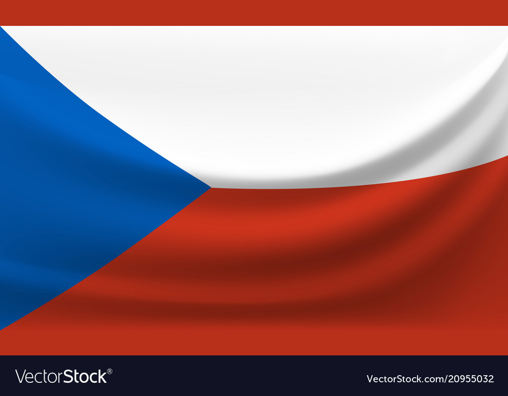 Waving national flag of czech republic