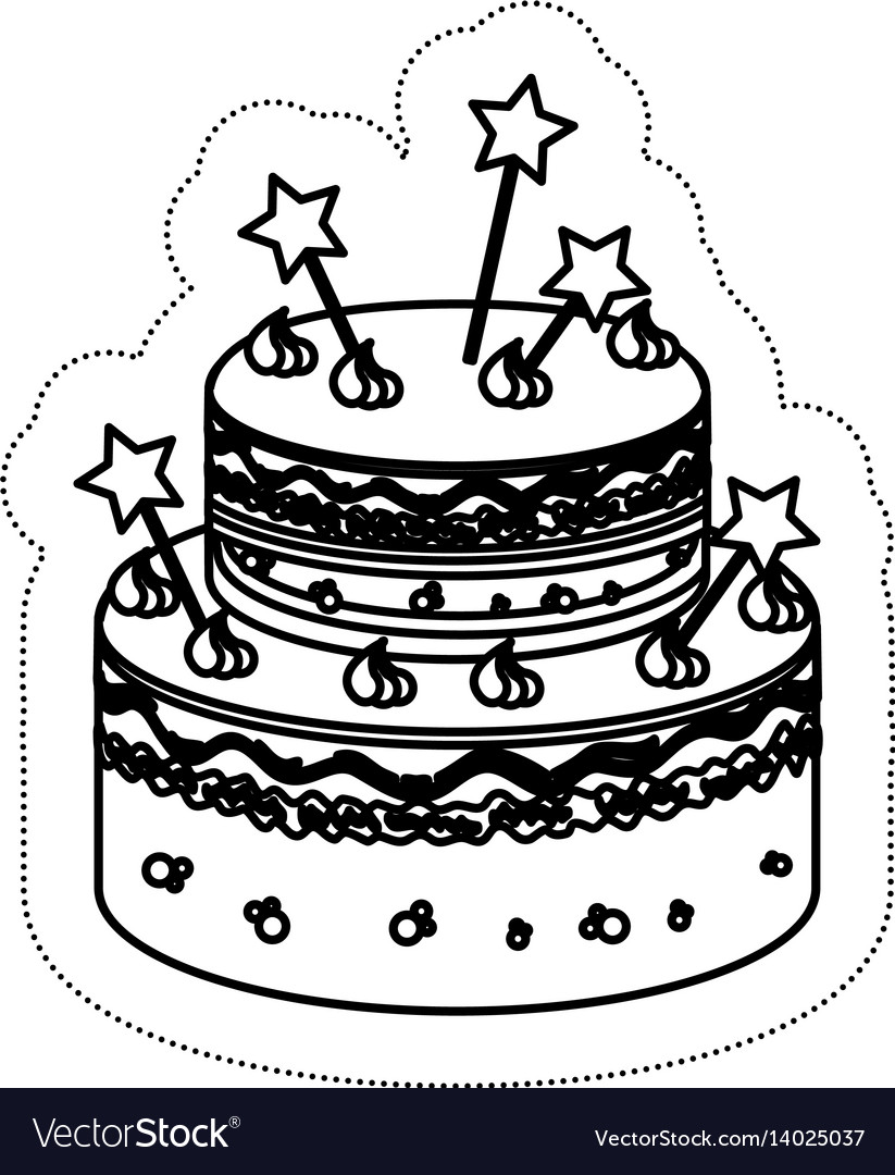 Birthday Cake Icon Royalty Free Vector Image Vectorstock