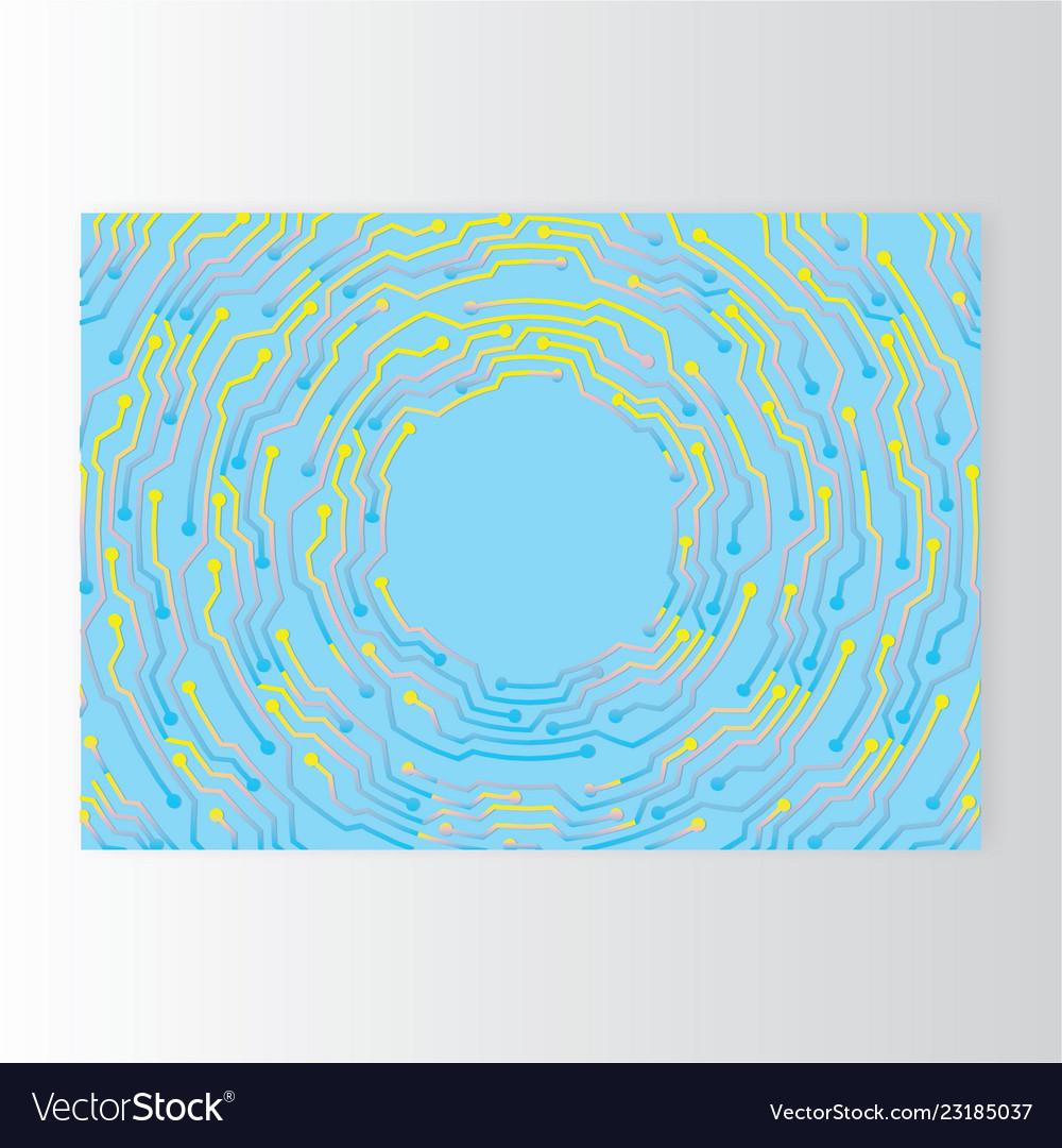 Creative concept meta blue yellow lilach scheme