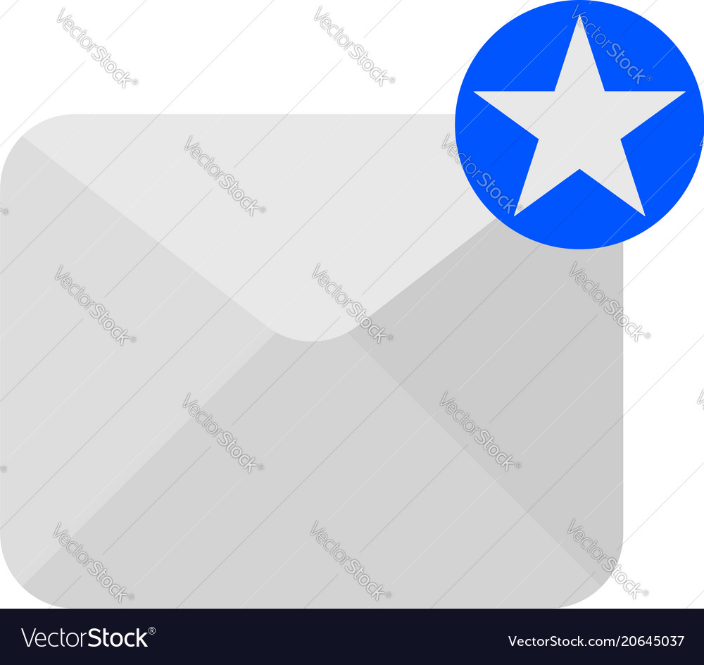 Envelope icon with star sign