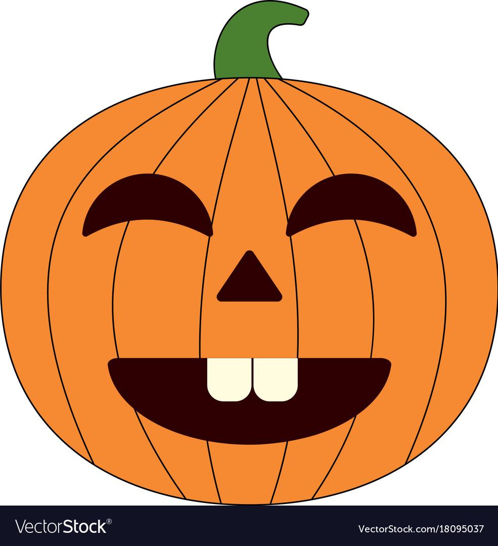Happy Halloween Cartoon Pumpkin Royalty Free Vector Image
