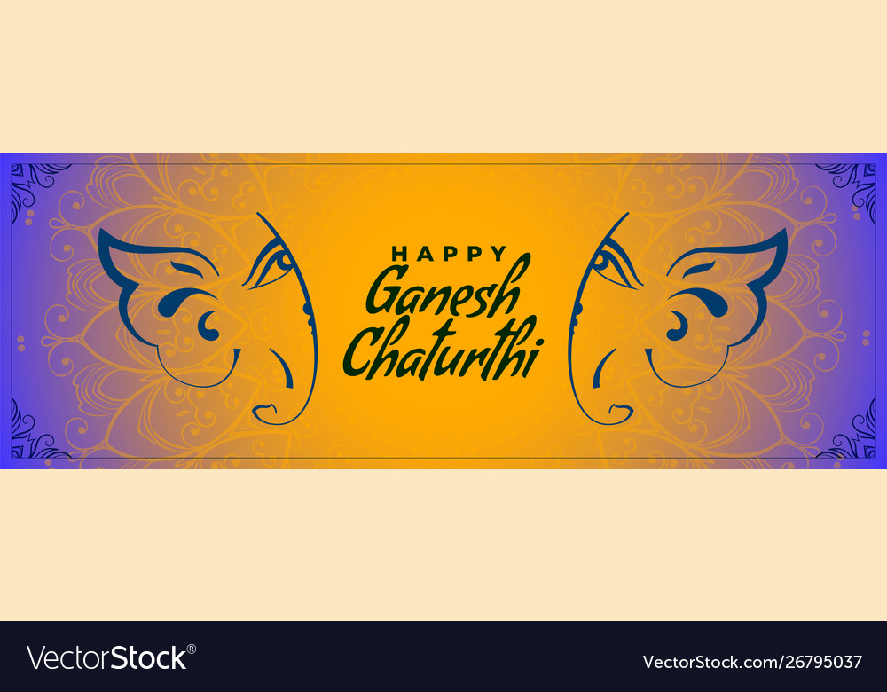 Indian traditional happy ganesh chaturthi