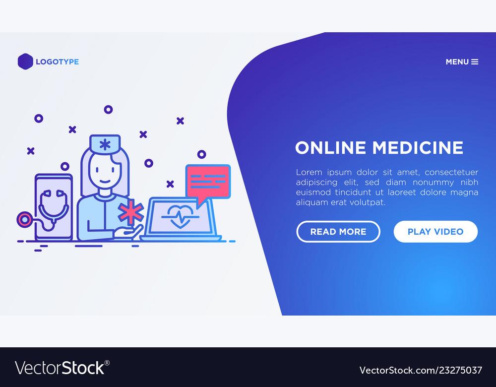 Online medicine telemedicine concept