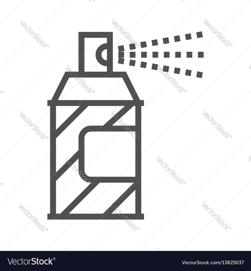 Spray paint line icon
