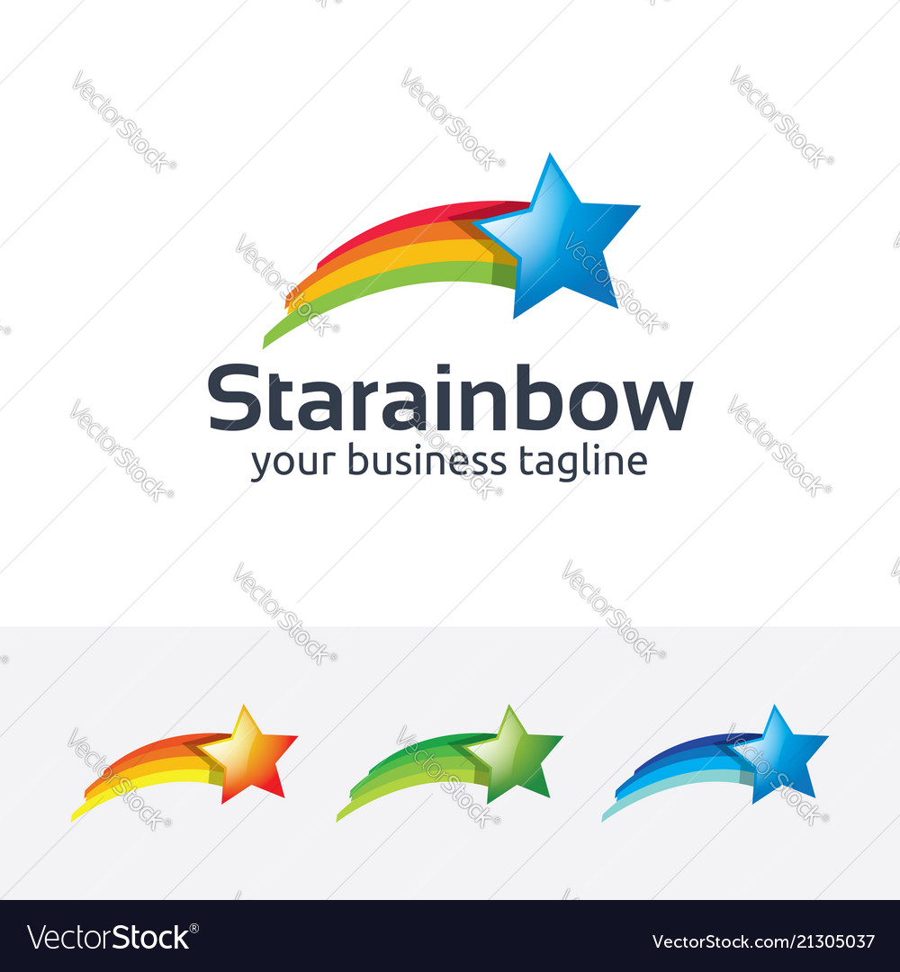 Star rainbow logo design