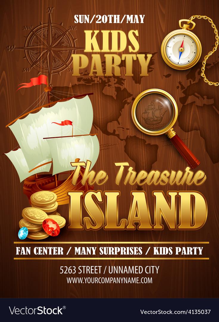 Treasure Island party flyer template