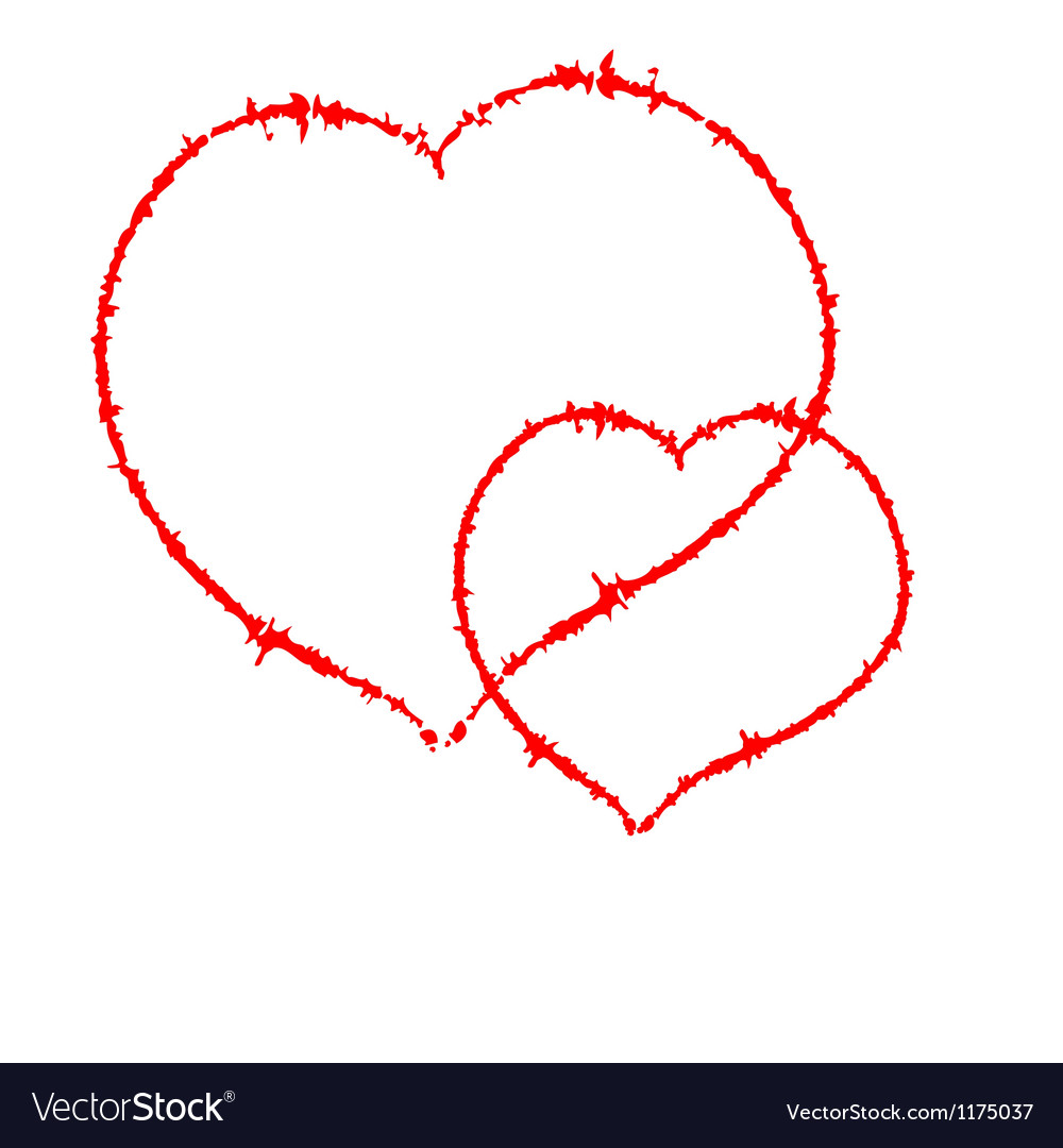 Two Scrawled Hearts