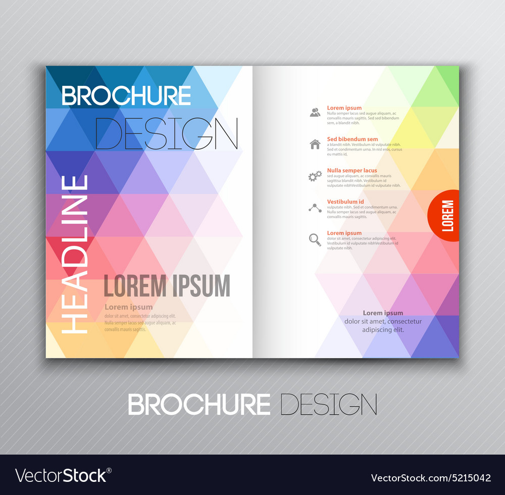 Abstract template brochure design with geometric