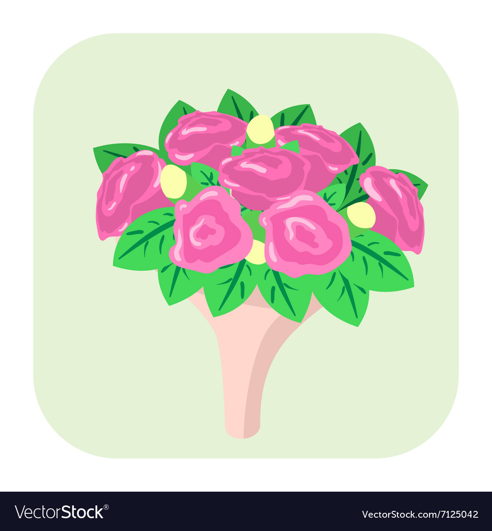 Bouquet of flowers cartoon icon Royalty Free Vector Image