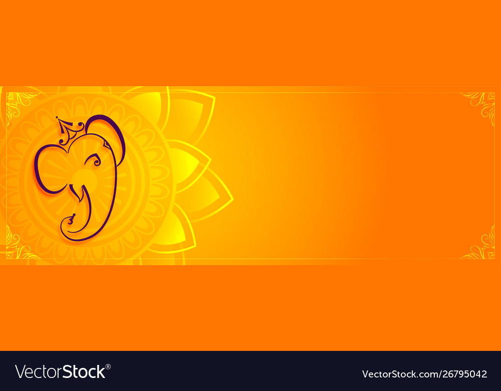 Creative lord ganesha banner with text space