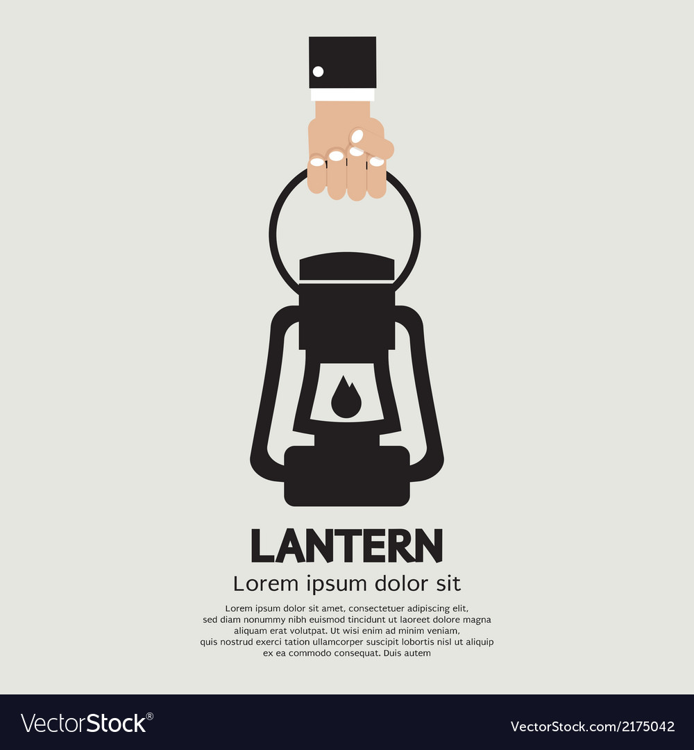 Hand Holding A Lantern vector image