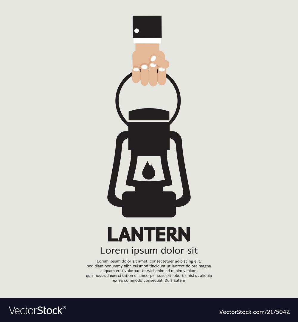 Hand Holding A Lantern