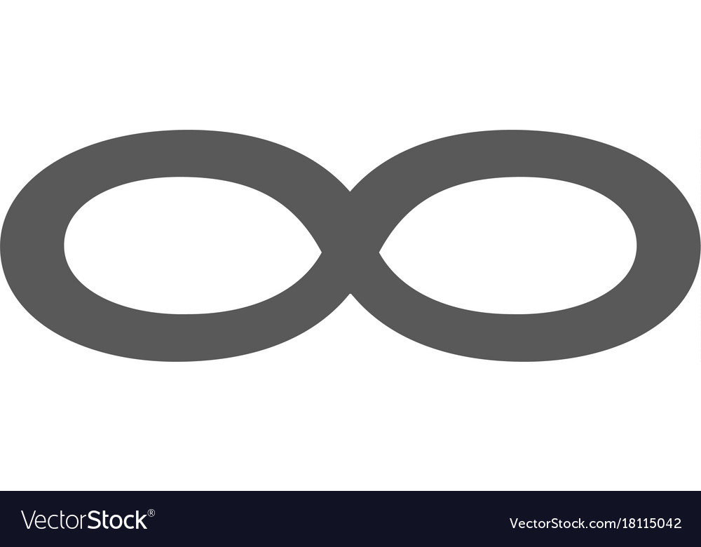 Infinity symbol icon simple vector image