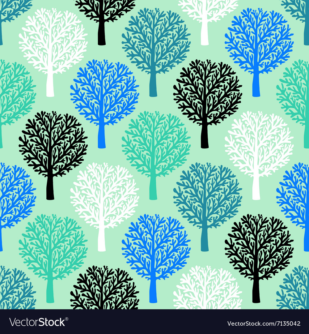 Pattern with trees