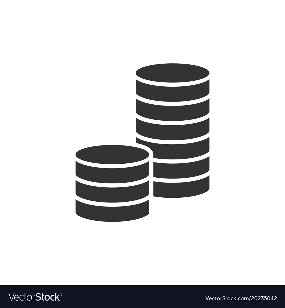 Pile of coins black icon