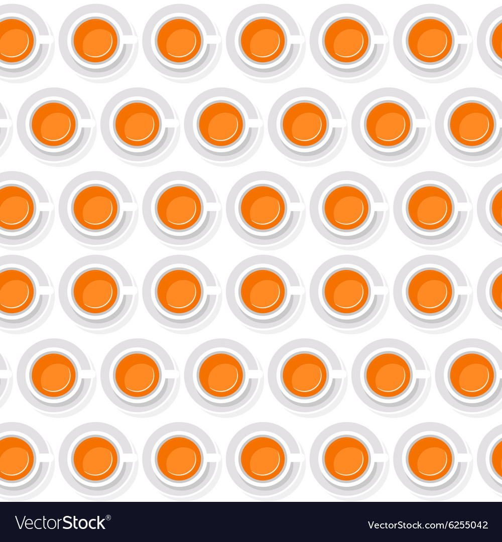 Seamless background of cups with orange juice in a