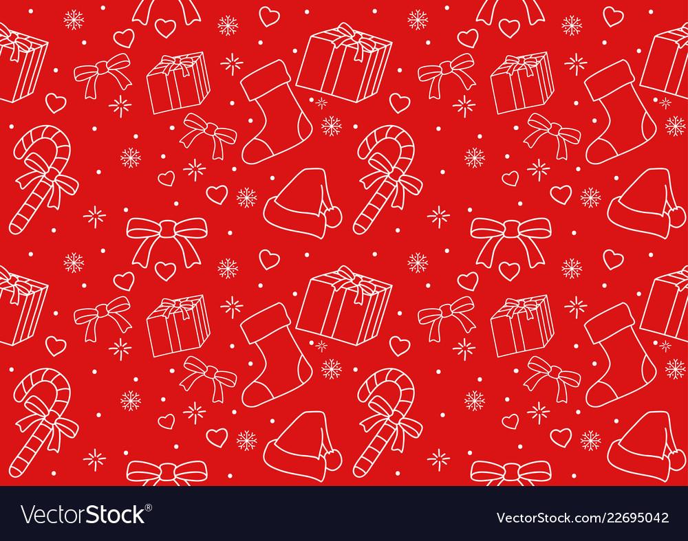 Seamless pattern of christmas ornament