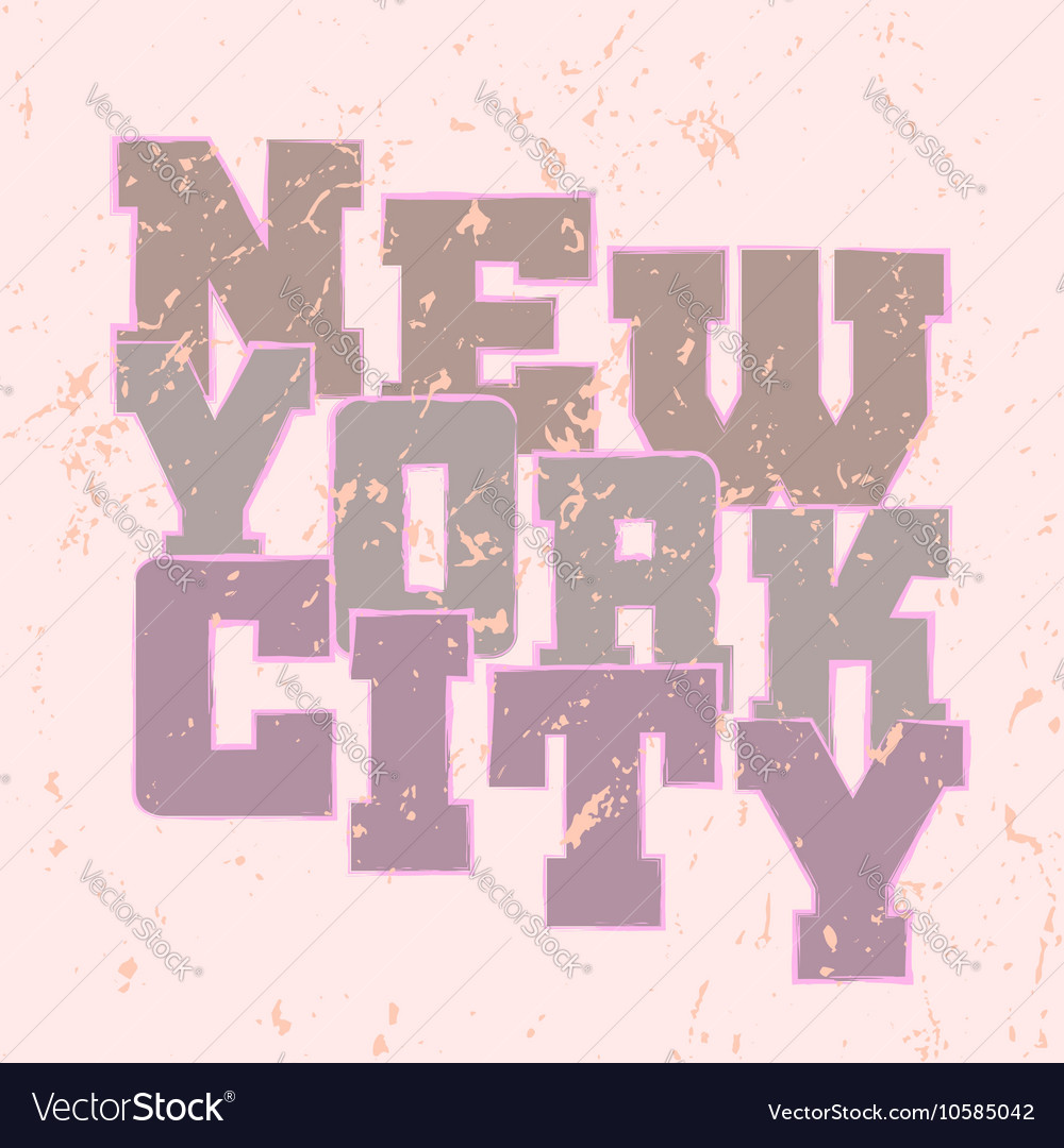 T shirt typography graphics New York style
