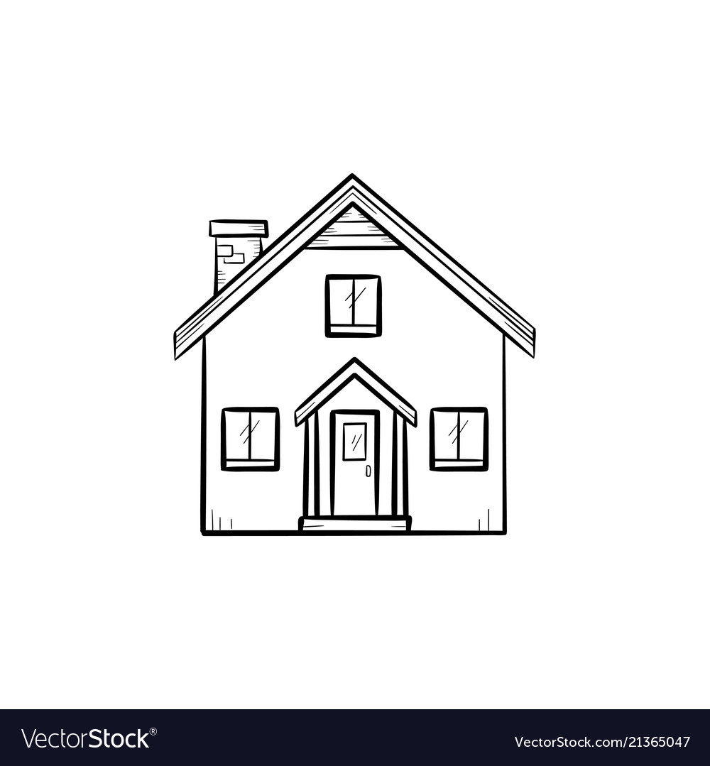 Detailed house hand drawn outline doodle icon