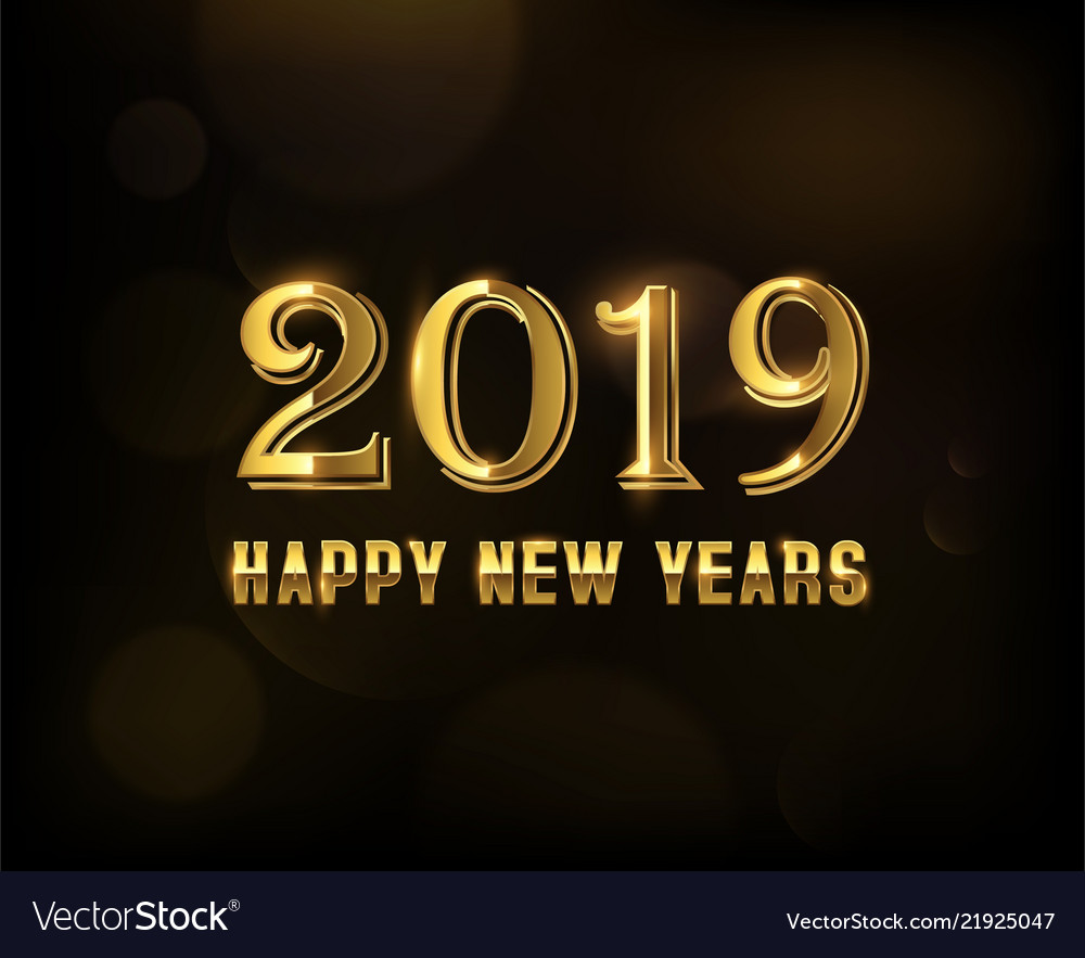 Golden number new year 2019 templates