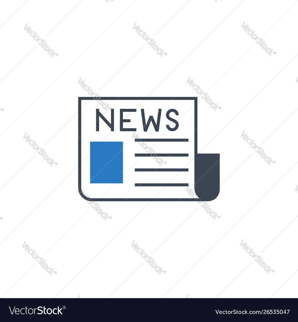 Newspaper related glyph icon