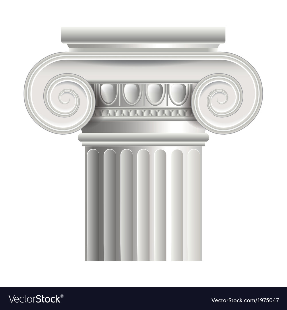 object roman or greek column royalty free vector image