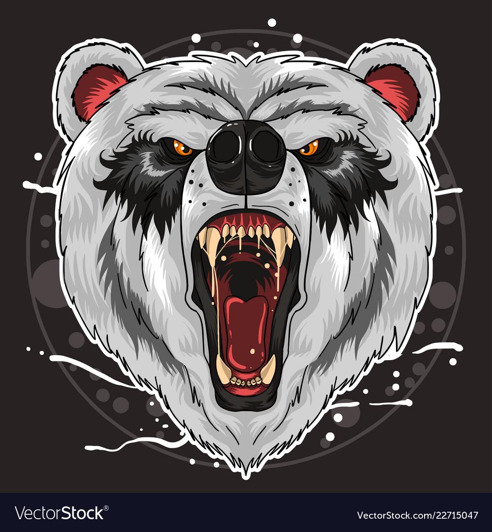 Panda head fierce