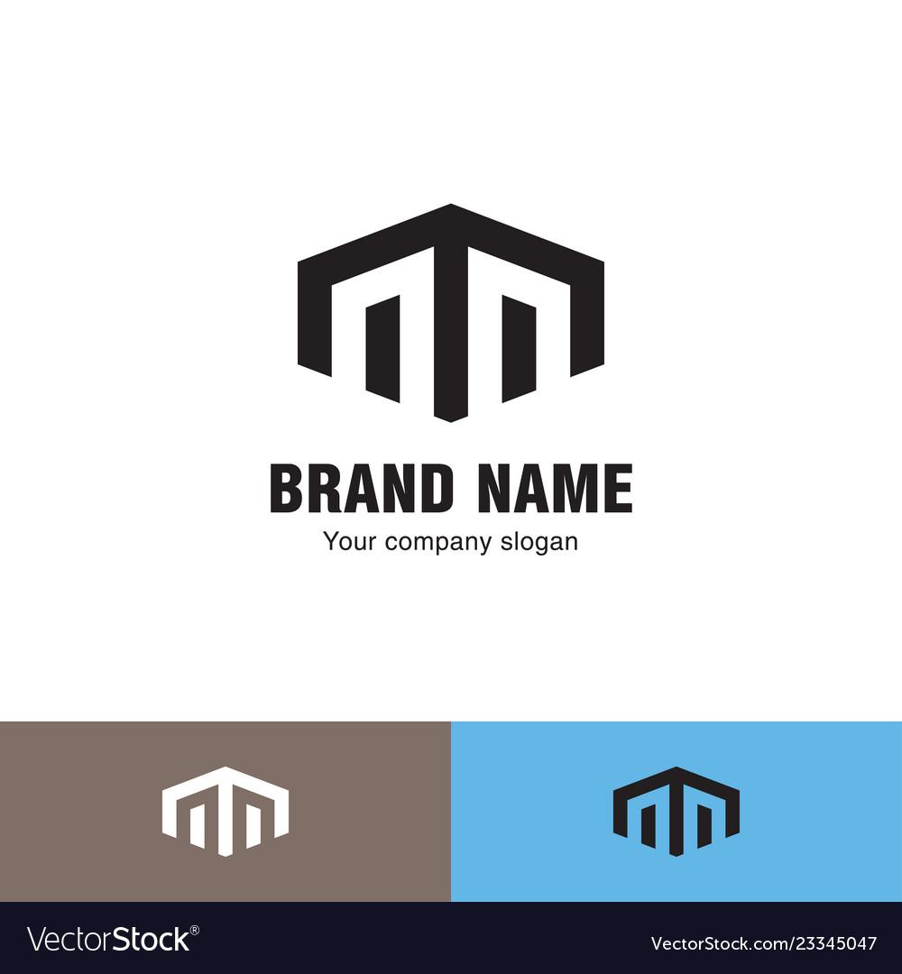 Simple line house logo