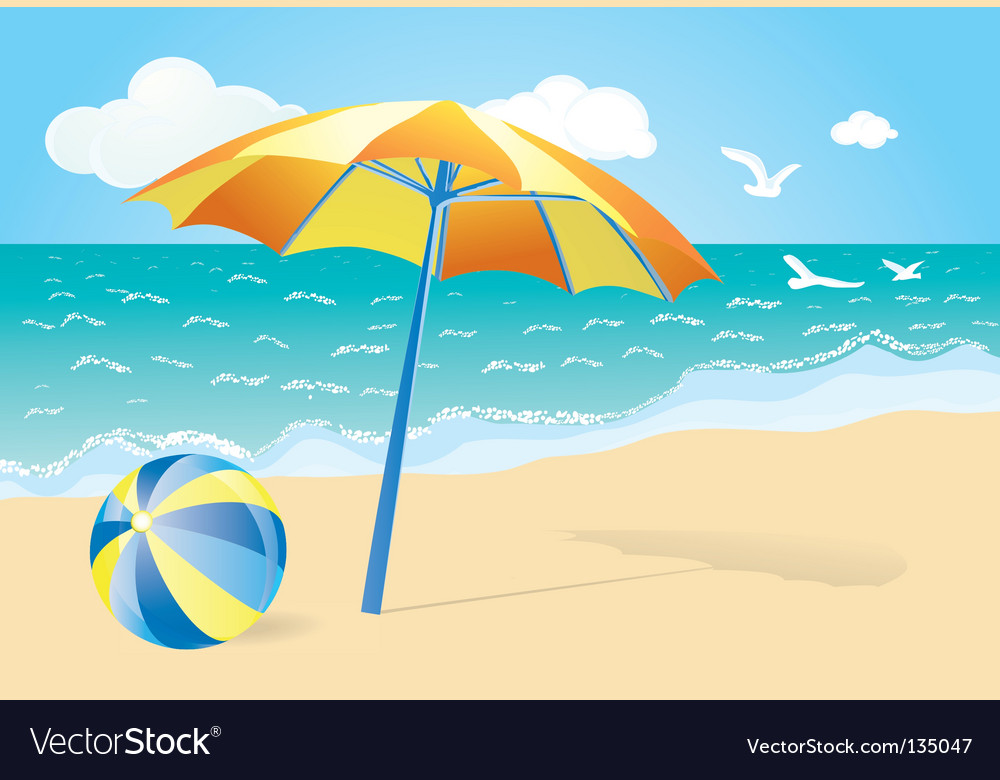 Happy Summer Holidays Background Vector: Summer Holiday Background Royalty Free Vector Image