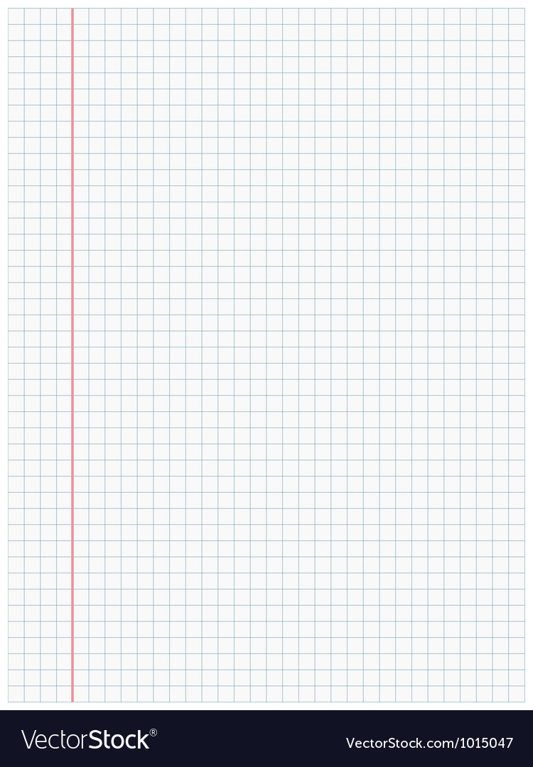 White squared paper sheet background vector image
