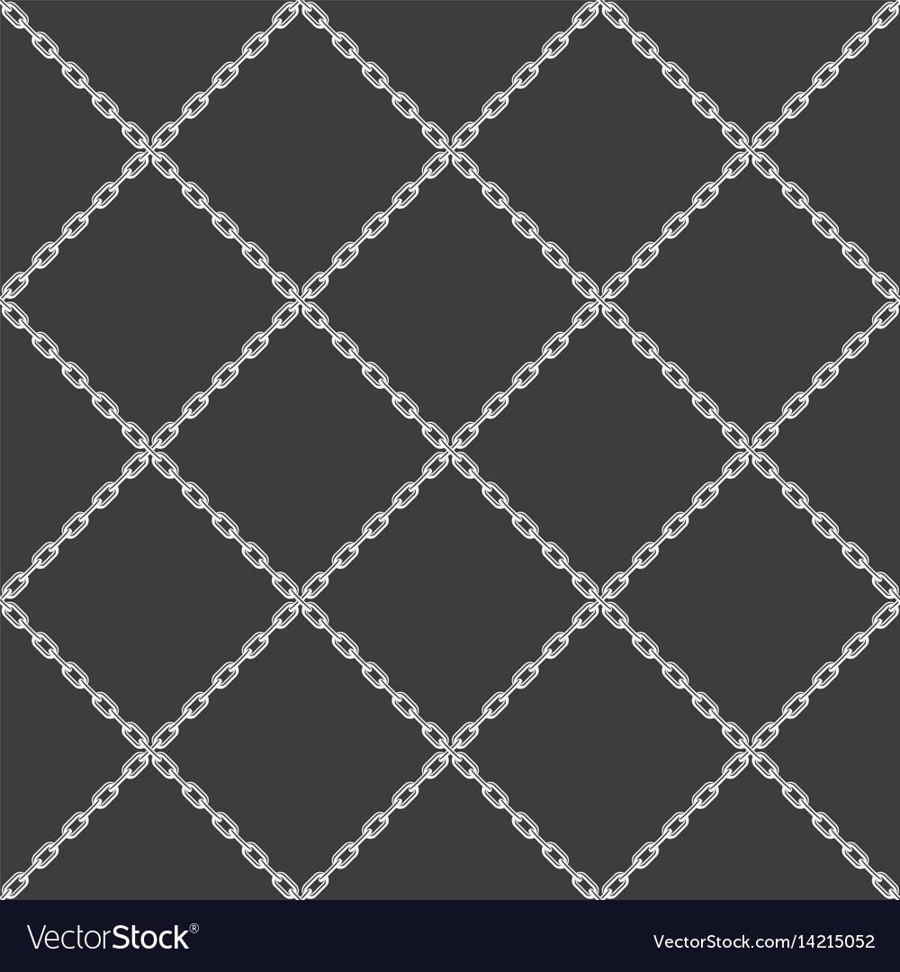 Chain seamless pattern black