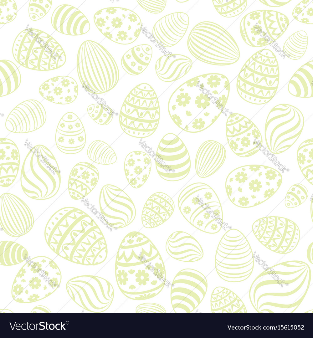 Easter egg seamless pattern holiday background