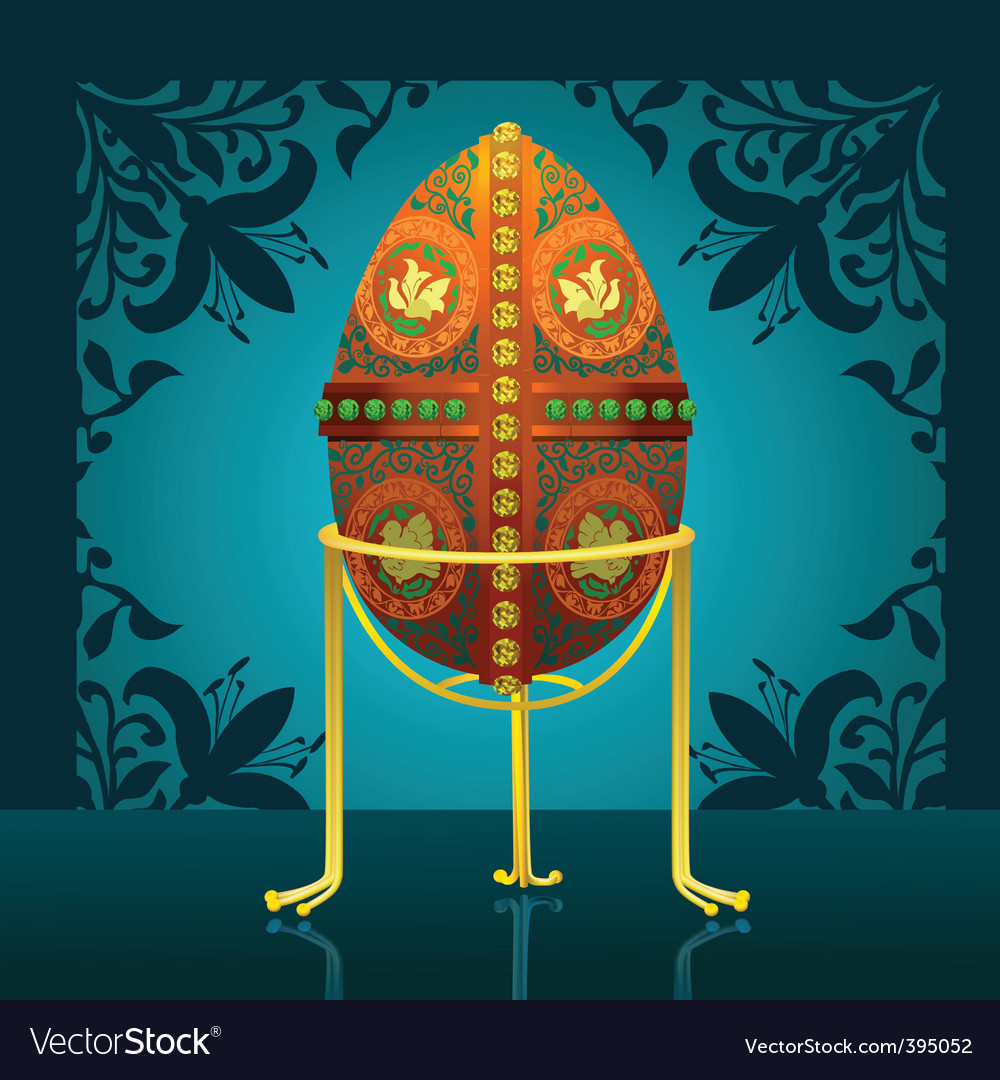 Easter real egg vector image