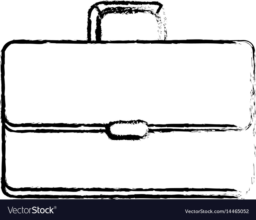 Figure suitcase to save business documents vector image