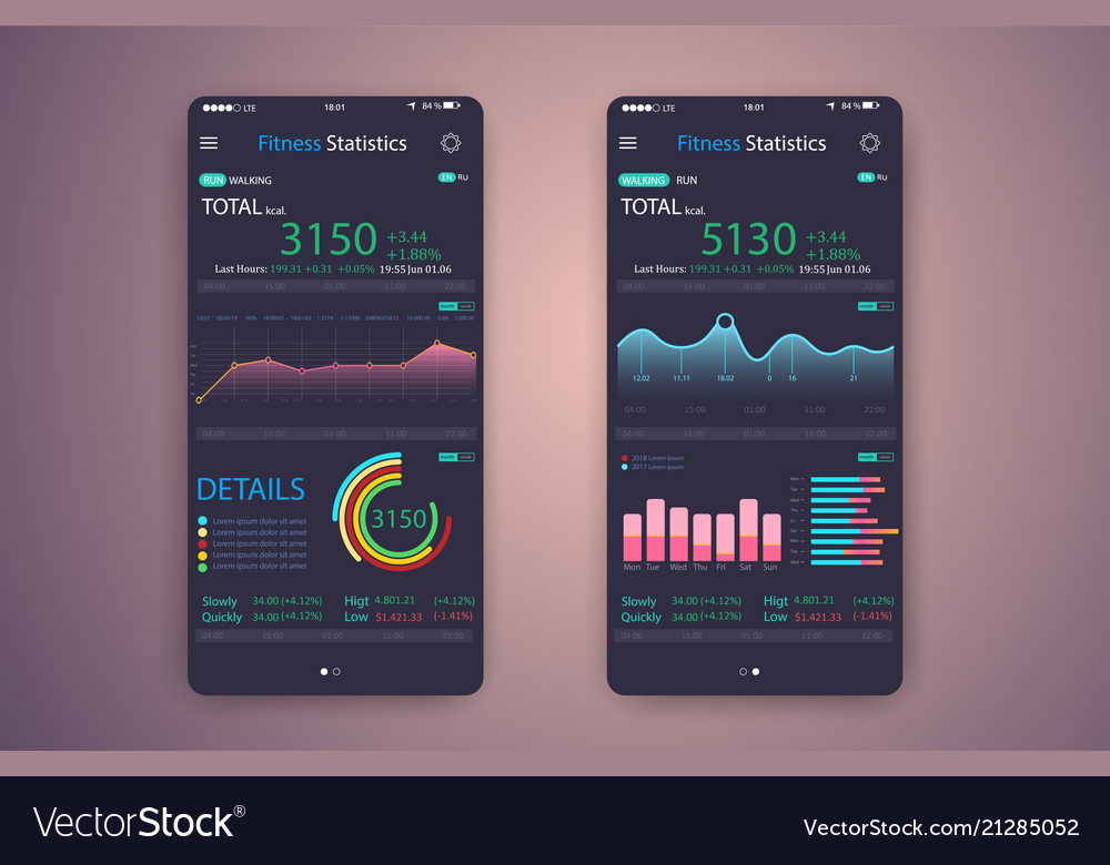 Fitness app ui ux design web design mobile