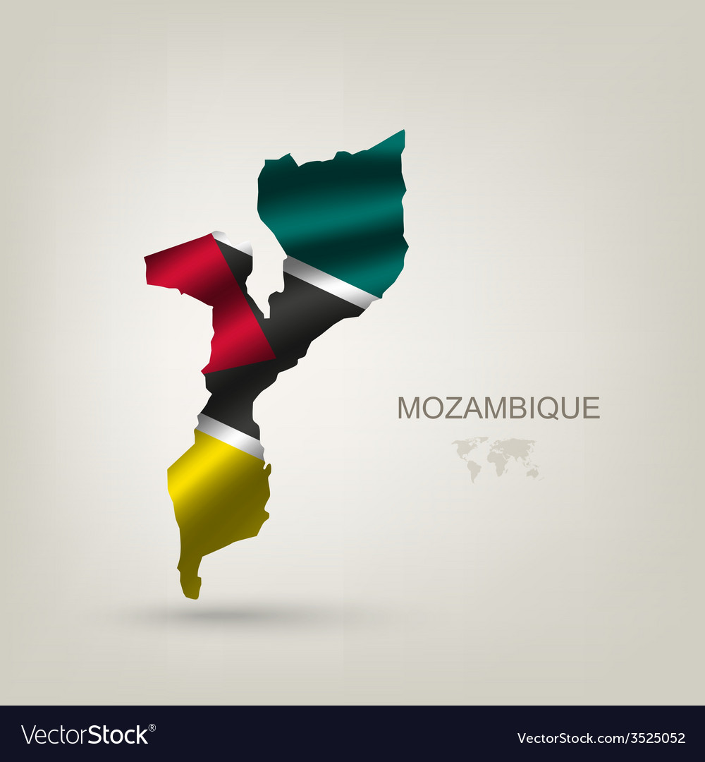 Flag of Mozambique as a country vector image
