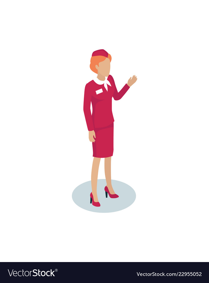 Fly attendant greeting icon
