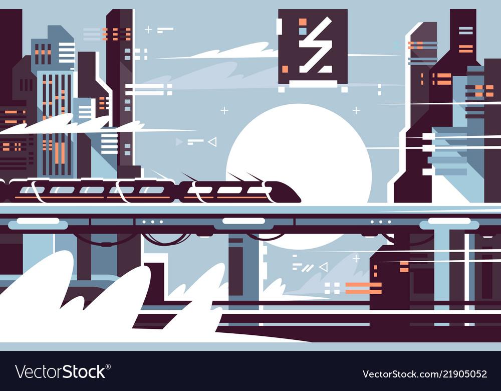 Futuristic fantastic train future